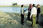 discussion with fish farmer